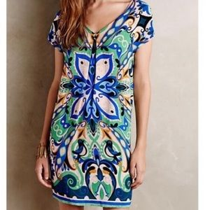 Anthropologie Maeve Folksong Bird Floral Dress